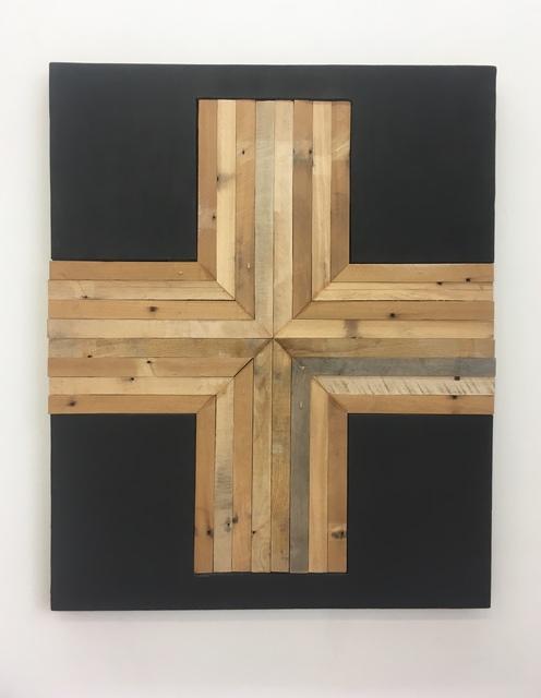 , 'Form No.15 (black & wood),' 2017, Amos Eno Gallery