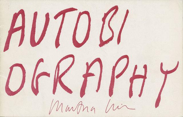 , 'Autobiography,' 1979, mfc - michèle didier
