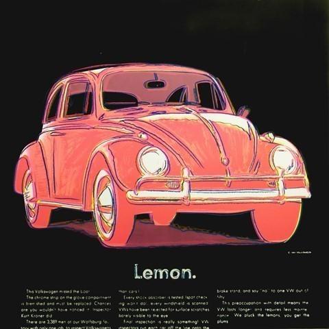 Andy Warhol, 'Volkswagen', 1985, Print, Screen-print on Lenox Museum board, Avant Gallery