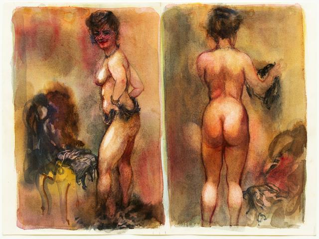 , 'Sich Entkleidende (Undressing Nude),' 1940, Hagemeier