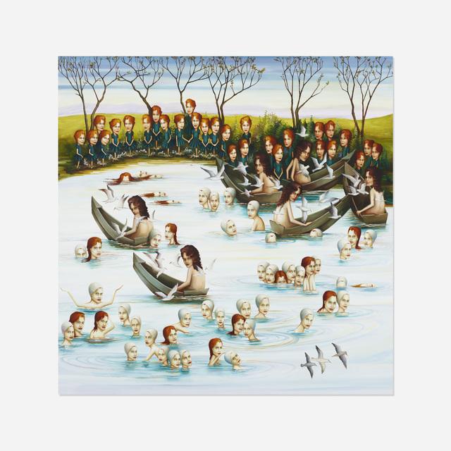 Sandra Scolnik, 'Mass Exodus', 2006-2007, Painting, Oil on wood panel, Rago/Wright