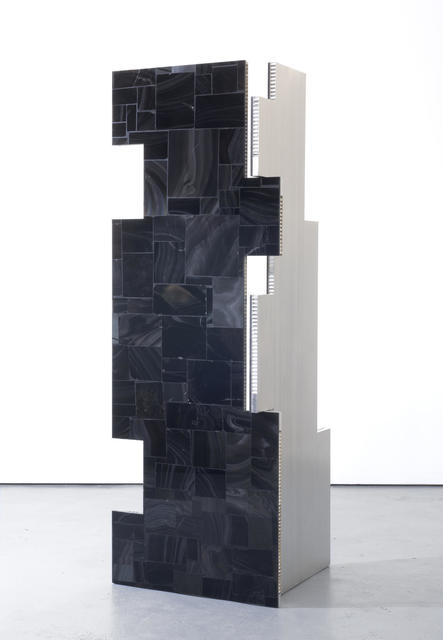 , 'a parliament of some things (Additive and Subtractive Sculpture, Obsidian Screen, Panels 1 & 2),' 2014, Almine Rech
