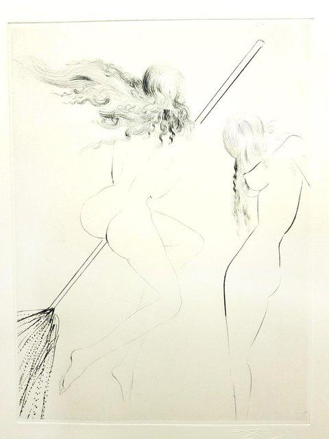 Salvador Dalí, 'Salvador Dali - Flying Witch - Original Etching', 1969, Galerie Philia