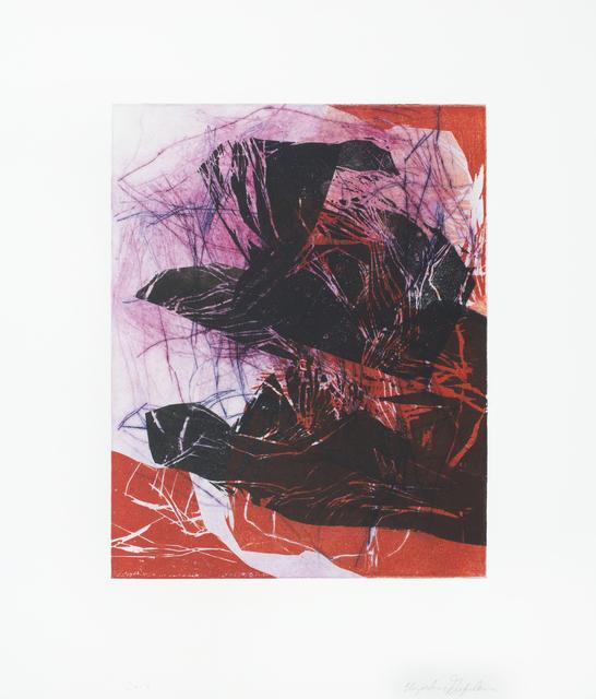 Elizabeth Gilfilen, 'Lost Edges #12', 2013, Print, Drypoint monoprint, Gallery Aferro