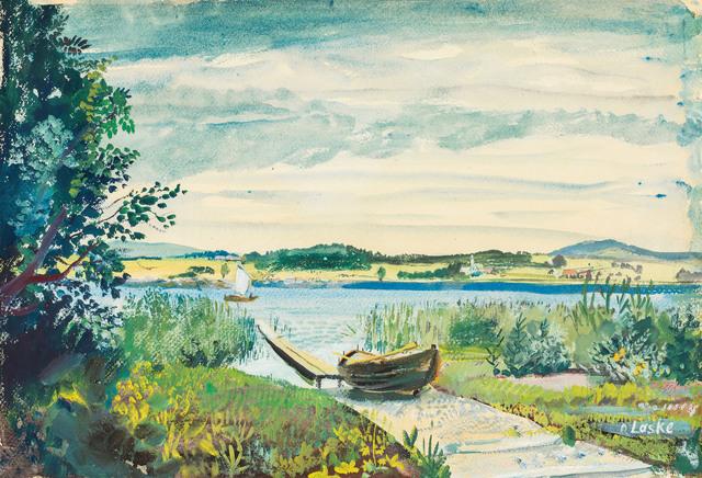 , 'At lake Wallersee,' ca. 1945, Galerie Kovacek & Zetter