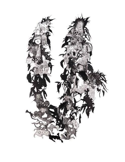 George Mead Moore, 'GEMELOS (BLANCO Y NEGRO)', 2013, Galería Quetzalli