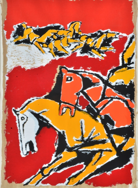 M. F. Husain, 'Untitled ', Edition:161/225, Painting, Serigraph On Paper, Arushi Arts