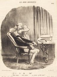 Honoré Daumier, 'Oh! la... tant mieux... ça prouve qu'elle vient!', 1847, National Gallery of Art, Washington, D.C.