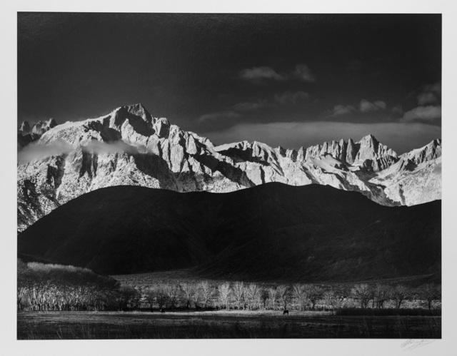 , 'Winter Sunrise, Sierra Nevada near Lone Pine, 1944,' ca. 1944, Photography West Gallery