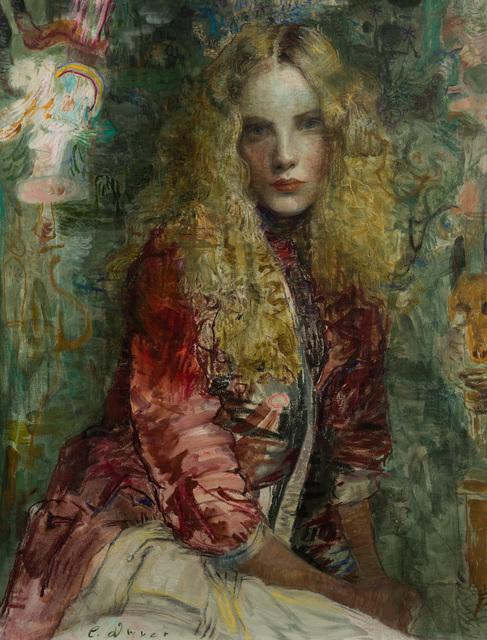 Charles Dwyer, 'The Red Robe', Merritt Gallery