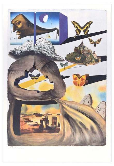 "Salvador Dalí, 'Plate II - From ""Suite Papillon""', 1969, Wallector"