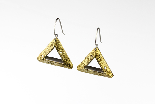 , 'Lunar Triangulum Earrings,' 2017, Facèré Jewelry Art Gallery
