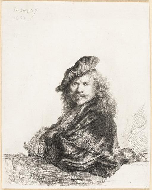 , 'Self Portrait Leaning on a Stone Sill,' 1639, Christopher-Clark Fine Art