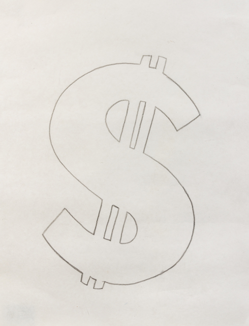 Andy Warhol, 'Dollar Signs', 1981, Drawing, Collage or other Work on Paper, Graphite on hmp paper, Hindman