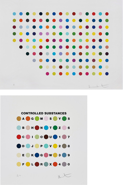 Damien Hirst, 'Meprobamate; and Controlled Substances Key Spot', 2011, Phillips