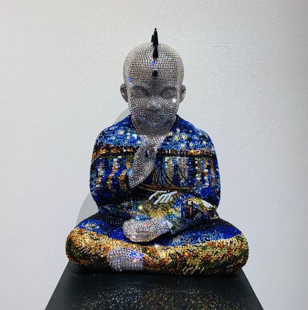 , 'Punk Buddha Starry Night II feat. Van Gogh,' ca. 2018, Samuel Lynne Galleries