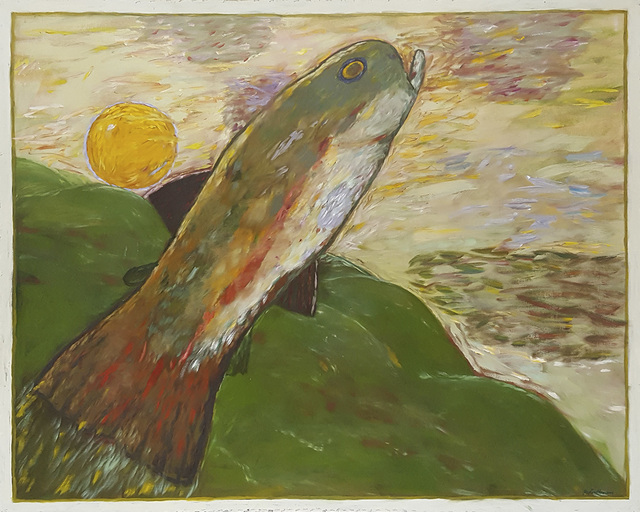 , 'Trout with Sun,' 1994, Linda Hodges Gallery