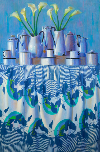 , 'Blue with Lilies,' 1999, Vose Galleries