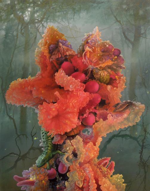 Adrian Cox, 'Glow Gardener With Moths', 2019, Corey Helford Gallery