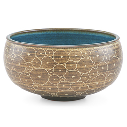 Bowl with stylized cell pattern, Claremont, CA