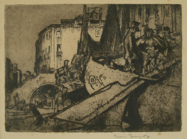 Sir Frank Brangwyn, 'Boatmen, Venice', ca. 1910, Private Collection, NY