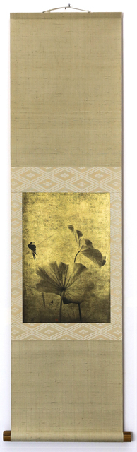 Kenji Wakasugi, 'Swallow and Lotus (Printed on gold leaf and mounted on a scroll by Genyu Yoshihashi)', 2017, Ippodo Gallery