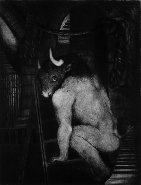 Ana Maria Pacheco, 'An Ancient Dark Night Descended Upon My Soul I', 2010-12, Print, Drypoint, Pratt Contemporary