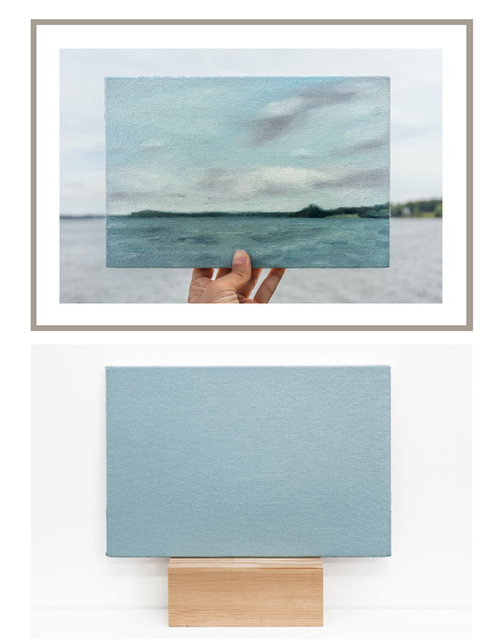 , 'Lake Mendota, 28/06/2017  -  one photograph and one painting of a series of 5 photographs and 5 paintings,' 2017, Maus Contemporary