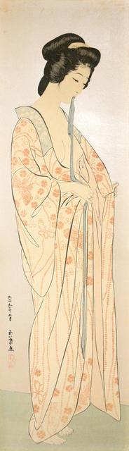 , 'Woman with Sash in Nagajuban,' 1920, Ronin Gallery