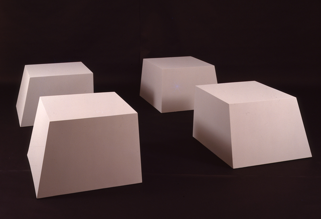 , 'Untitled (Battered Cubes),' 1966, National Gallery of Art, Washington, D.C.