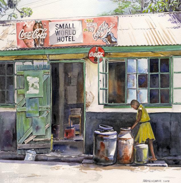 Tony Armendariz, 'Small World', 2013, Painting, Watercolor on paper, 33 Contemporary