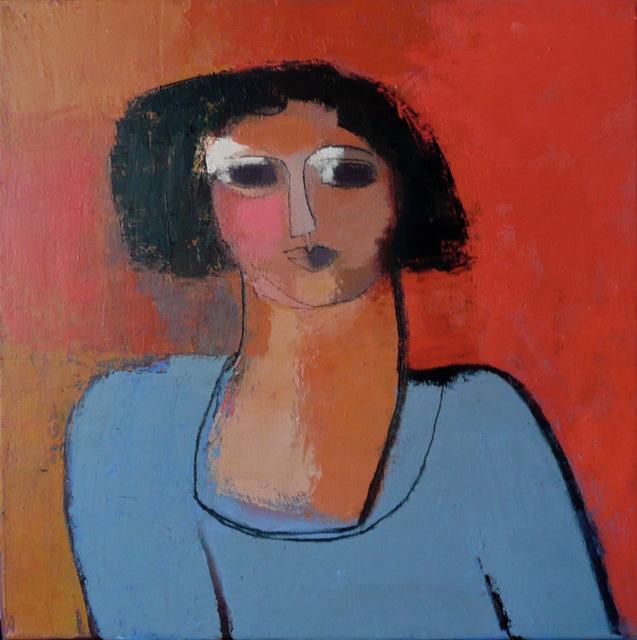 , 'Vania à la Robe Bleue,' 2014, Susan Eley Fine Art