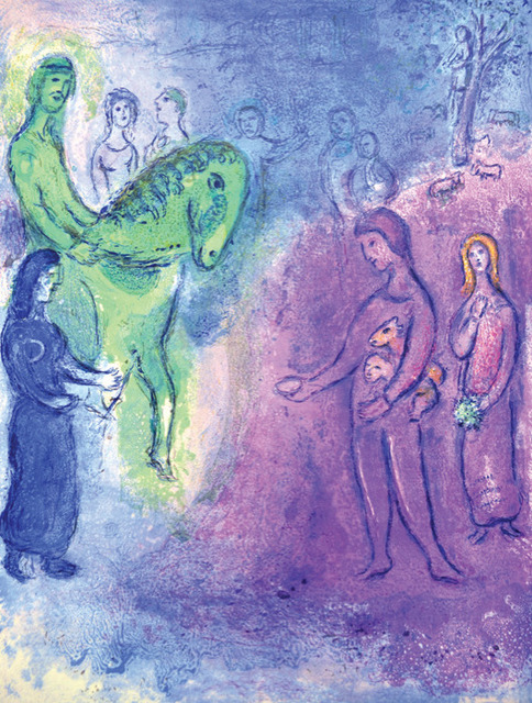 Marc Chagall, 'Arrival of Dionysophanes', 1961, Print, Original lithograph printed in colors on Arches wove paper., Galerie d'Orsay