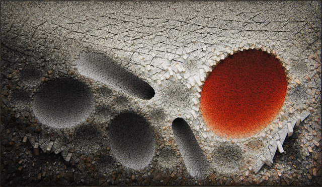 , 'Aggregation 10 - JL020 Red,' 2010, Sundaram Tagore Gallery