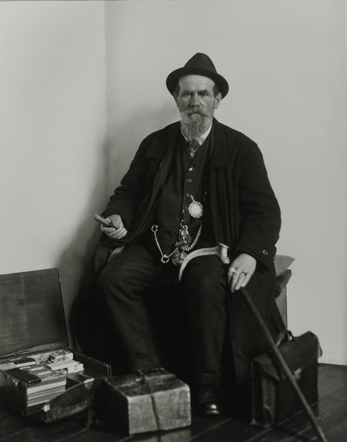 August Sander, 'Merchant, 1924', Galerie Julian Sander