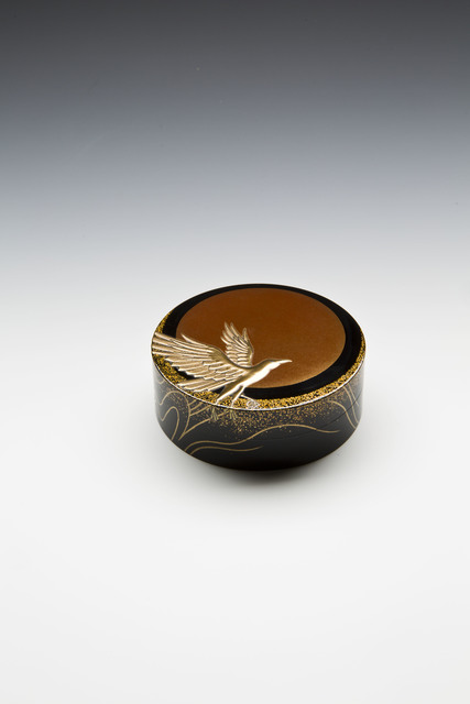, 'Incense Box with Three-Legged Crow, Sun, and Waves,' 2016, Erik Thomsen