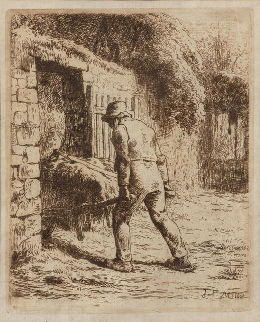 Jean-François Millet, 'Le Paysan rentrant du fumier', Hindman