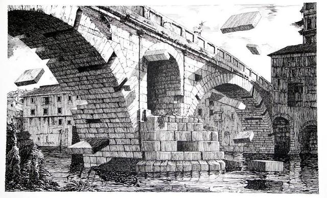 Daniel Arsham, 'View of the bridge, Second State', 2012, Galerie Ron Mandos