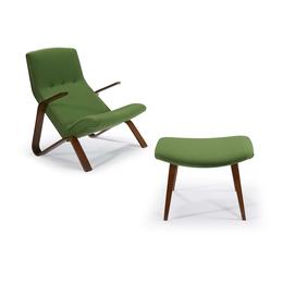 Grasshopper Chair And Ottoman, Knoll Associates, USA