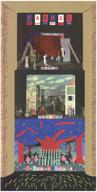 David Hockney, 'Parade- Metropolitan Opera', 1982, Posters, Offset lithograph & Silk screen, ArtWise