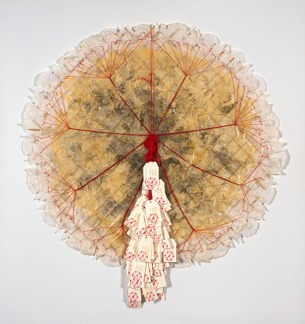 Lyndi Sales, 'What are your chances if the game is rigged?', Mixed Media, Paper and thread, Strauss & Co