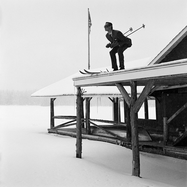 Rodney Smith, 'Reed Skiing off Roof, Lake Placid, NY', 2008, Gilman Contemporary