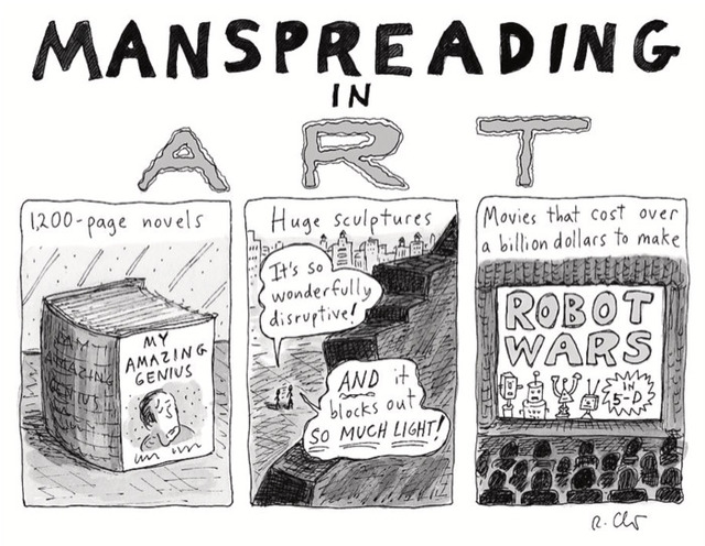 , 'Manspreading in Art,' 2018, DANESE/COREY