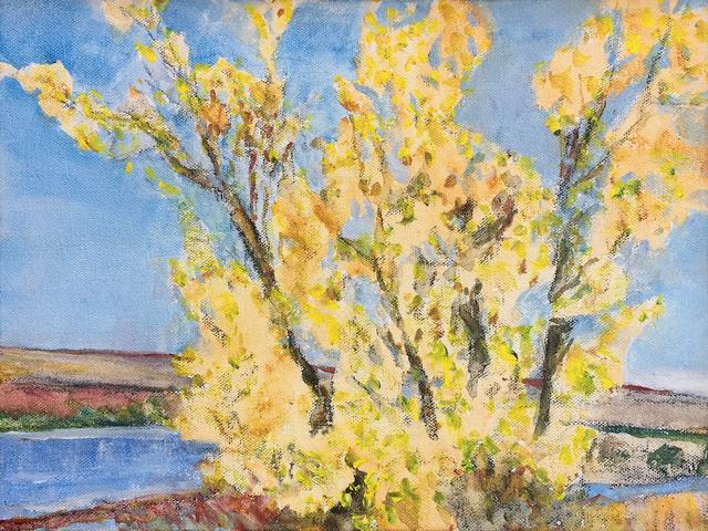 , 'Yellow Trees Against Blue,' 2012, Han Art
