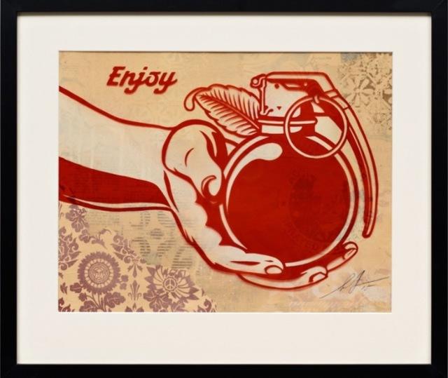 "Shepard Fairey, '""Enjoy"" Rubylith ', 2015, New Union Gallery"