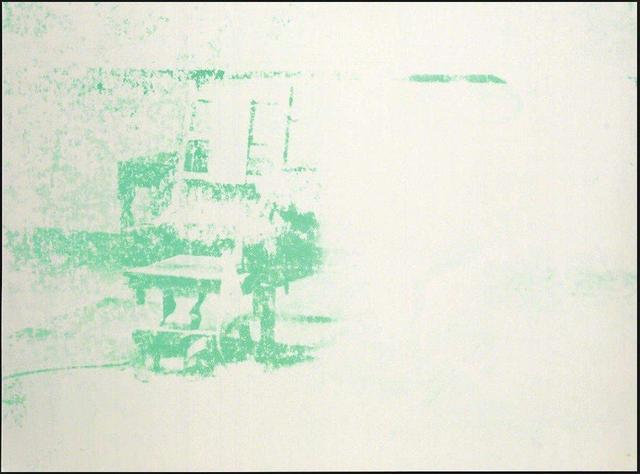 , 'Electric Chairs (#11.80) (white and green),' 1971, The Future Perfect