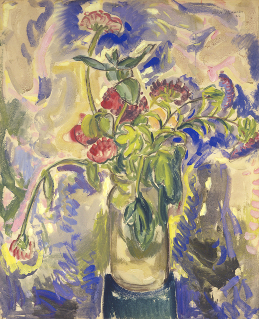 Alfred H. Maurer, 'Blue Flowers', 1926, Drawing, Collage or other Work on Paper, Gouache and watercolor on paper, Hollis Taggart