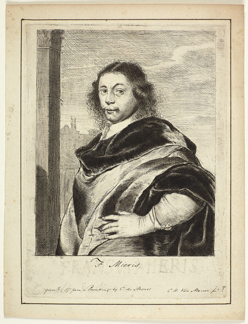 , 'Portrait of the artist Frans van Mieris the Elder,' ca. 1690, Emanuel von Baeyer