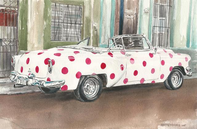 Tony Armendariz, 'Polka Dot Express', 2019, Painting, Watercolor on paper, 33 Contemporary
