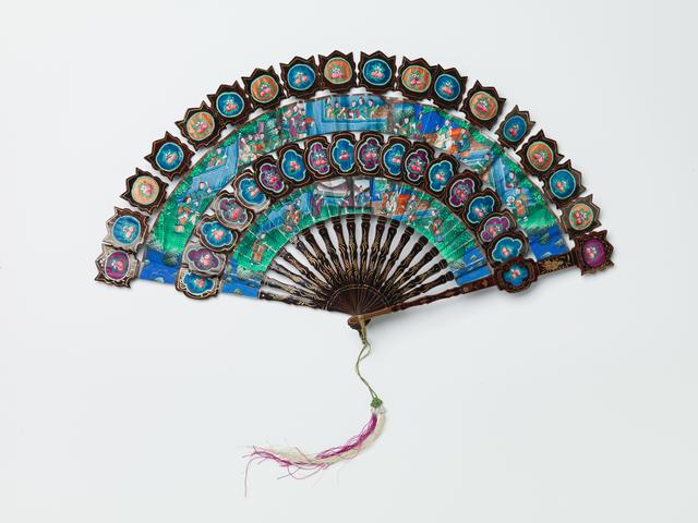 'Folding fan', Mid 19th Century, RISD Museum